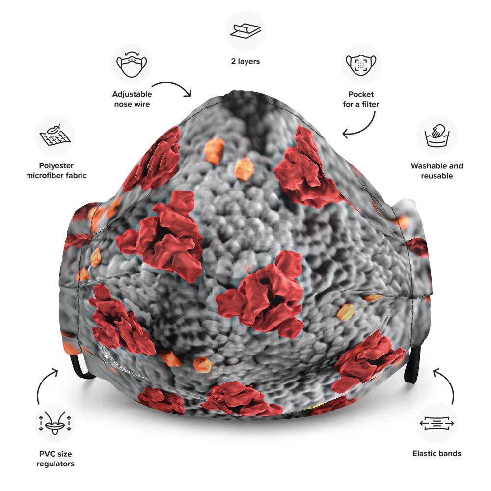 Coronavirus Closeup Premium Face Mask