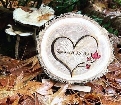West Coast Custom Wood Round Engraved Wedding Favor