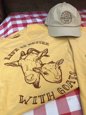 """""""Life Is Better With Goats"""" T-shirt"""