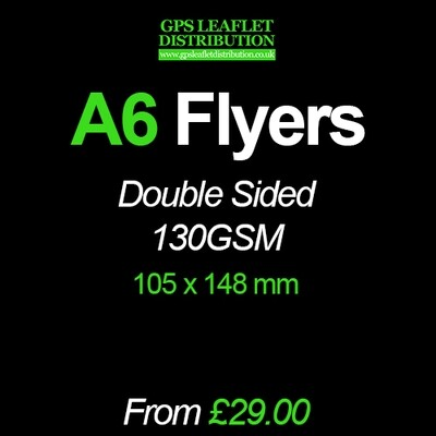 A6 Flyers - 130gsm - Full Colour Double Sided