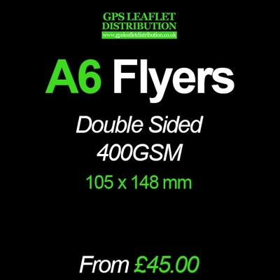 A6 Flyers - 400gsm SILK - Full Colour Double Sided