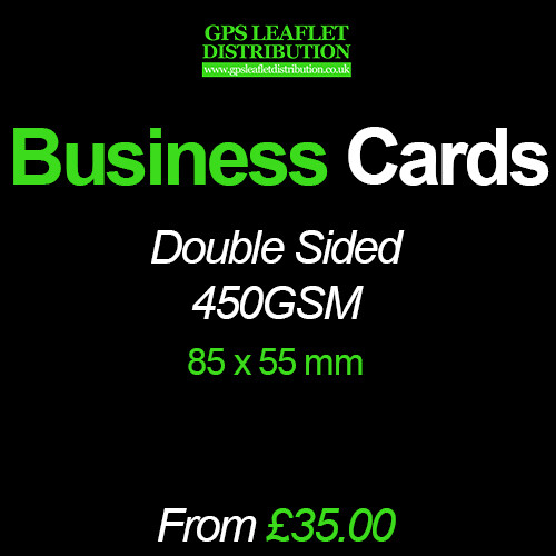 Business Cards 450gsm Matt- Full Colour Double Sided