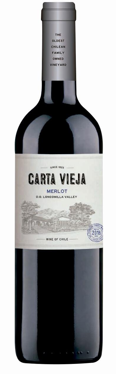 Carta Vieja Merlot 750 ml.