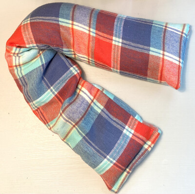 Handmade Hot/Cold Pack Red and Blue Plaid Print