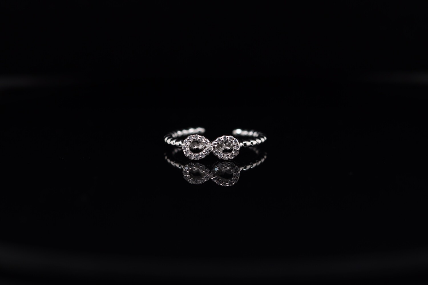Solitaire Infinity Ring