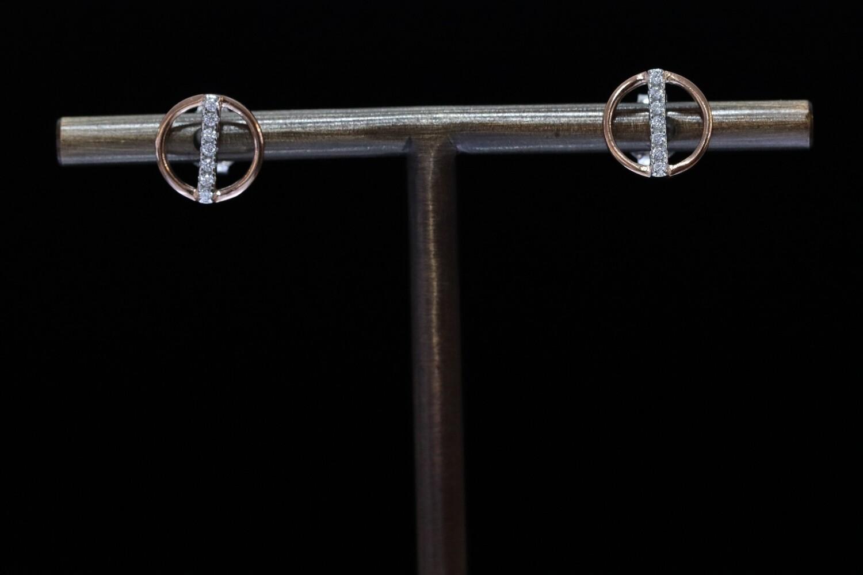Solitaire Round w/Vertical Bar Stud