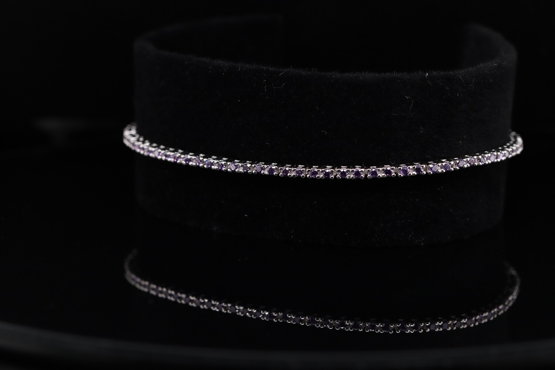 Solitaire Blue Stone Sparkling Bracelet