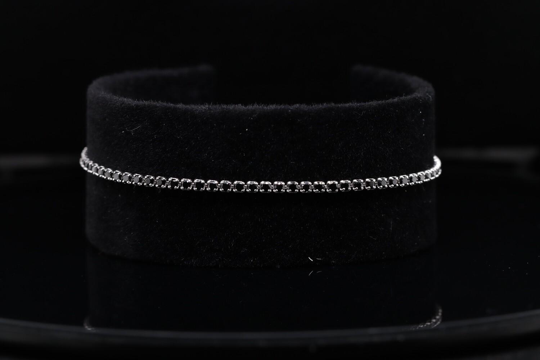 Solitaire Sparkling Black Bracelet