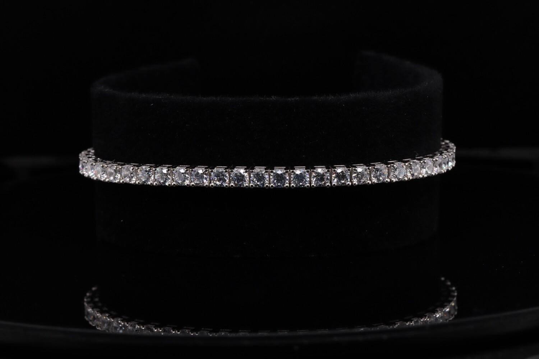 Solitaire Sparkling Squares Bracelet