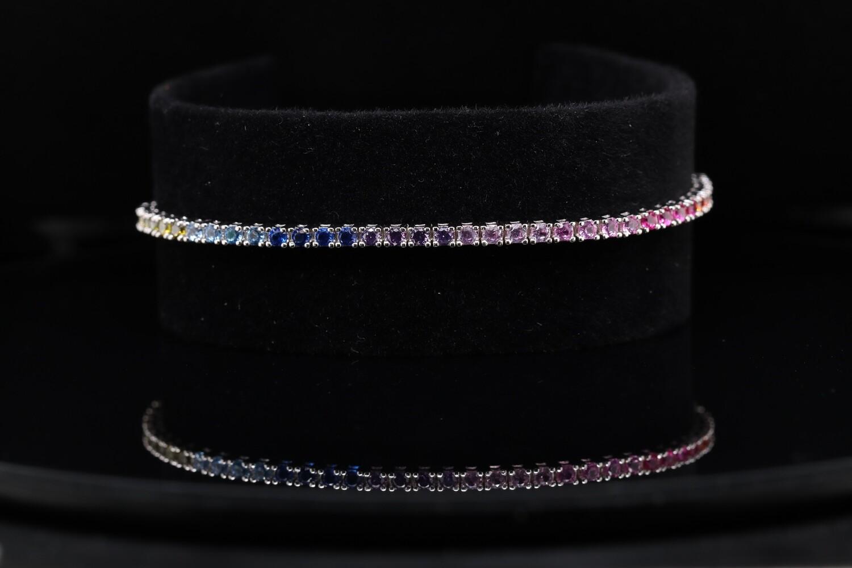 Solitaire RGB Crystal Bracelet