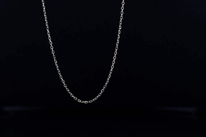 Solitaire Silver Plain Chain