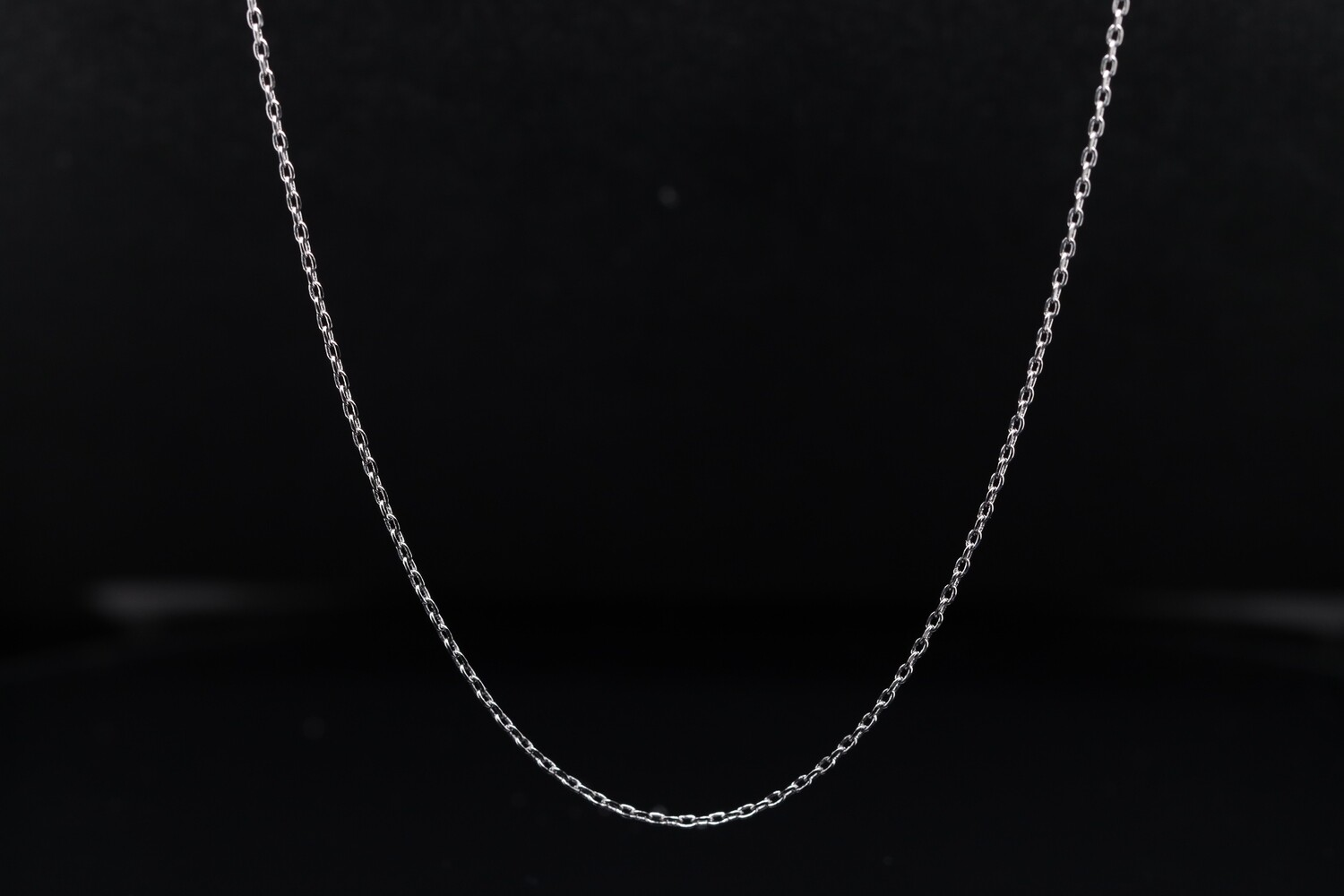 Solitaire Silver Long Chain
