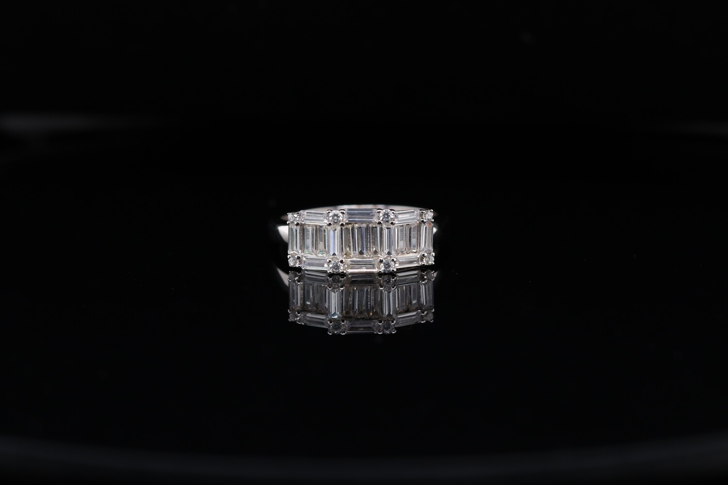 Solitaire Crystal Sparkling Ring