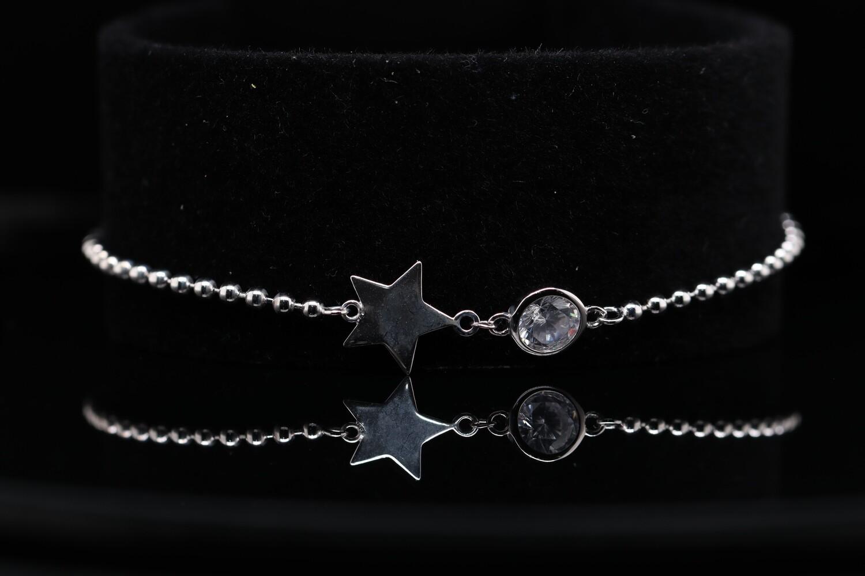 Solitaire Star Sparkling Bracelet