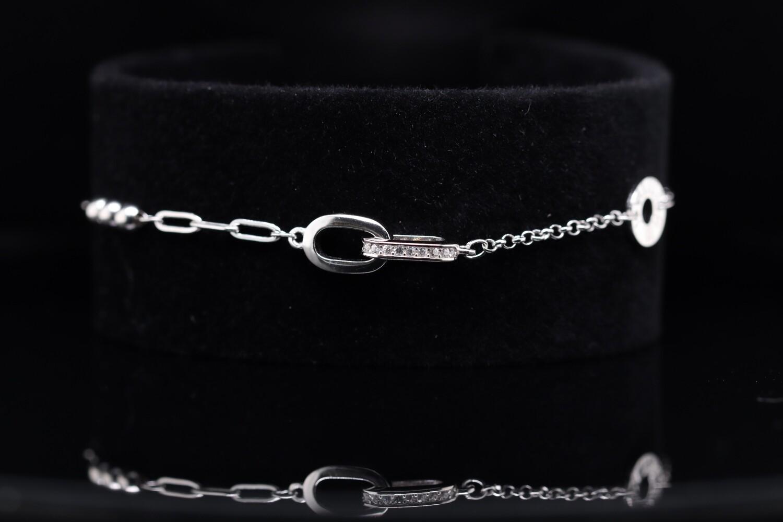 Solitaire Shining Chain Bracelet