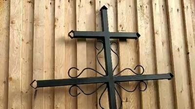 Крест металлический простой