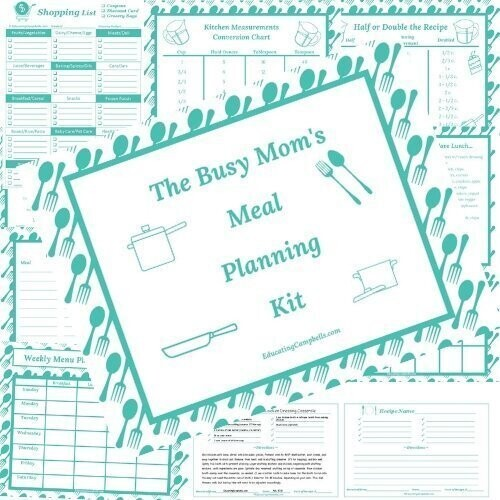 The Busy Mom's Meal Planning Kit