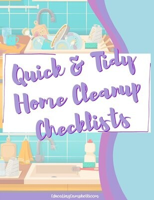 Quick & Tidy Home Cleanup Checklists