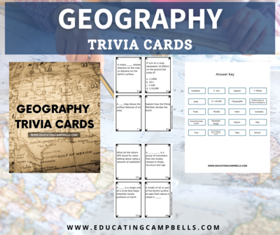 Geography Trivia Cards