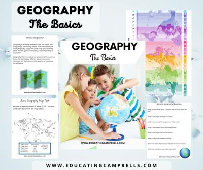Geography: The Basics Unit Study