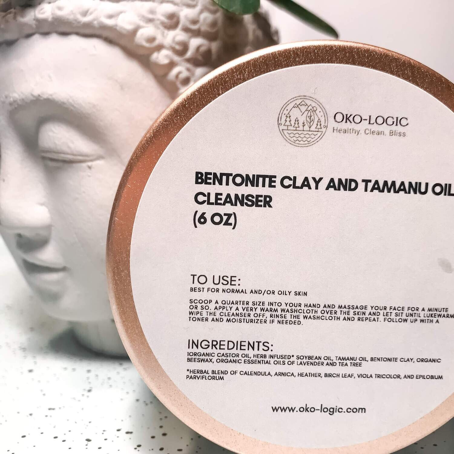 CLAY AND TAMANU OIL CLEANSING BALM