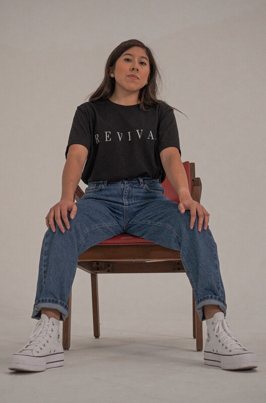 Revival Tee in Black With Logo