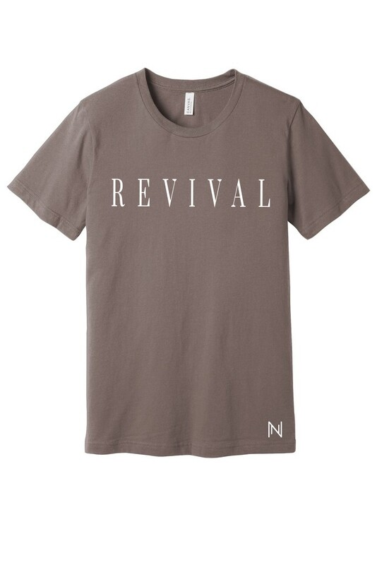 Revival Tee In Pebble Brown With Logo