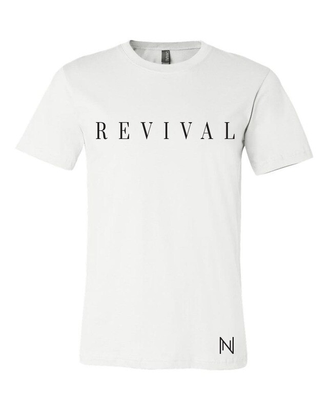 Revival Tee In White and Black with Logo