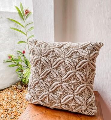 Spring Macrame Cushion Cover