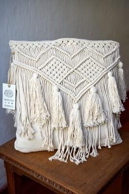 Tassel Macrame Cushion Cover