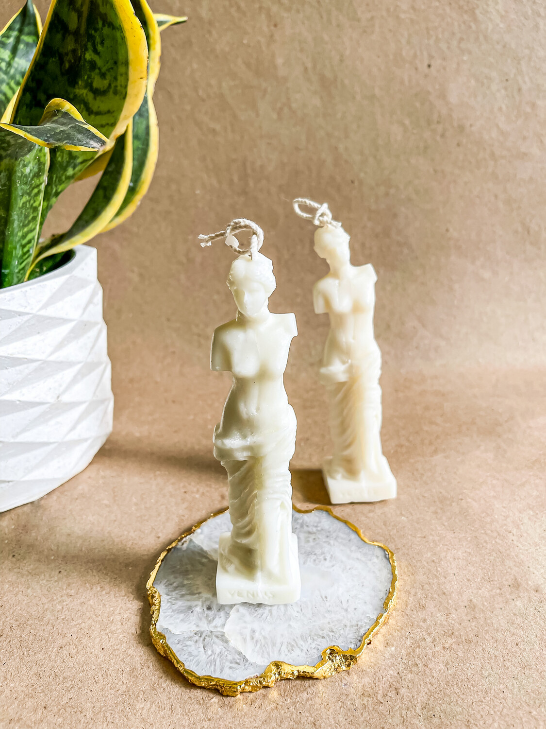Venus Statue Soy candle