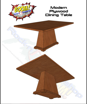 Modern PLYWOOD Dining Table