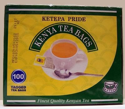 Ketepa Pride tea bags from Kenya-String and tag-100TBS