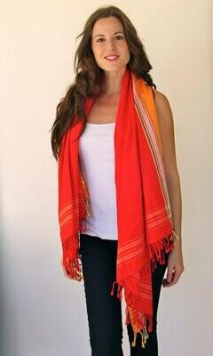 Scarlet red Beach towel Kanga Kikoy Sarong from Kenya-100% cotton(KS003)-FREE SHIPPING