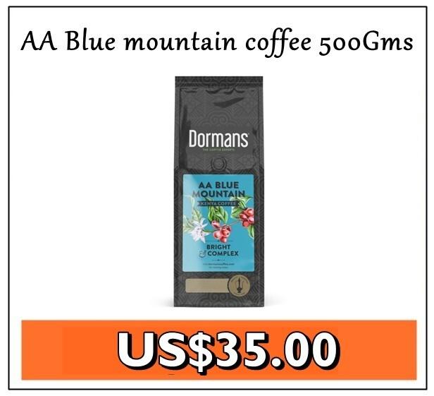 Dormans AA Blue mountain coffee Grade 1 coffee from Kenya-500Gms