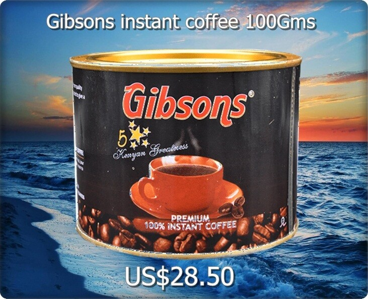 Gibsons instant coffee from Kenya 100Gms