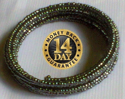 Black-green Masai spiral wire flexible beads bracelet