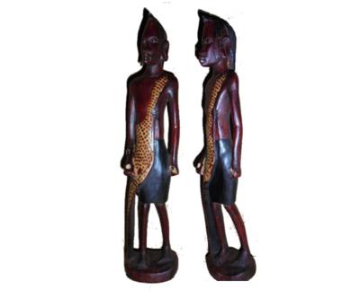 Masai warrior Moran sculpture