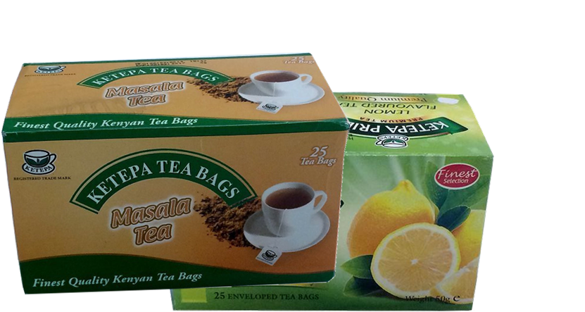 Ketepa pride lemon/masala flavored tea bags-2 x 50TBS