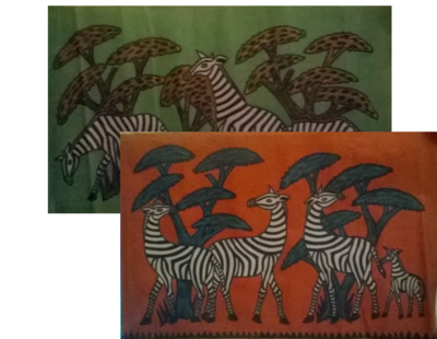 Kenya Masai Mara Zebra oil painting-MP003