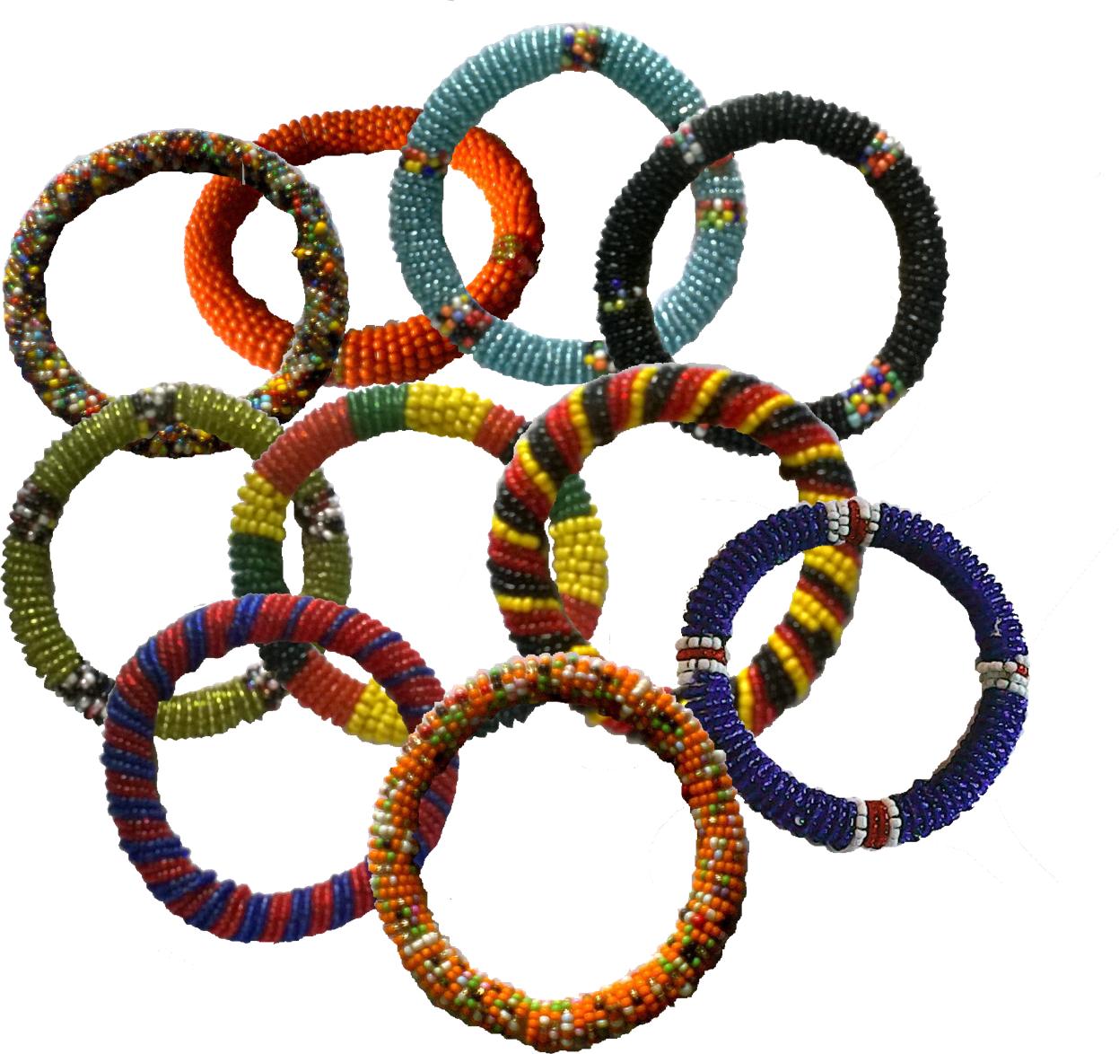 10 pieces Masai beads bracelets-MBB002