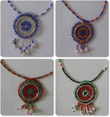 4 pieces Masai beads necklaces-MBN001