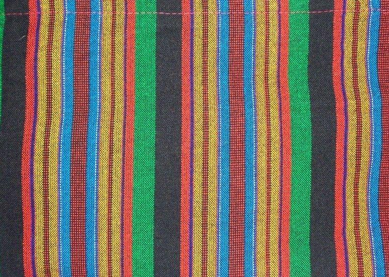 Multicolored striped Masai shuka fabric Joseph's robes colors