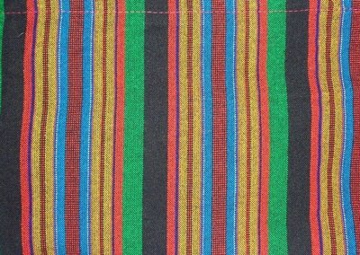 Multicolored striped Masai shuka fabric Joseph's robes colors