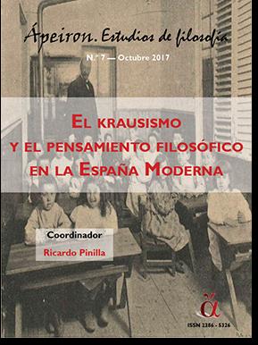 El krausismo y el pensamiento filosófico en la España Moderna (Monográfico)