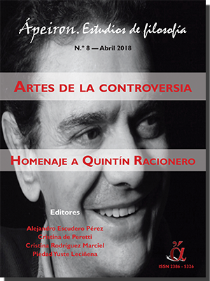 Artes de la controversia. Homenaje a Quintín Racionero (Monográfico)