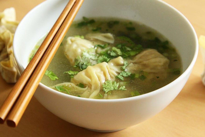 Potage raviolis chinois