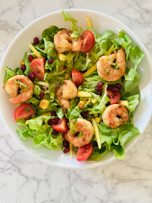 Salade aux scampis grilles