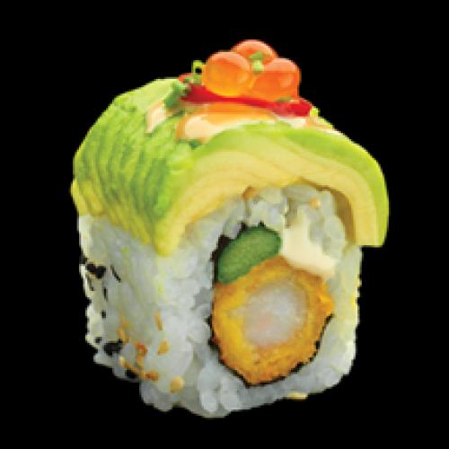 Exotique rolle avocat tempura spicy