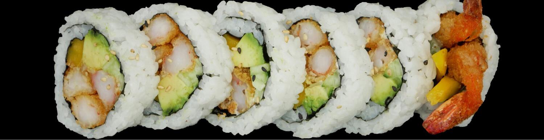 Big rolle tempura Avocat spicy